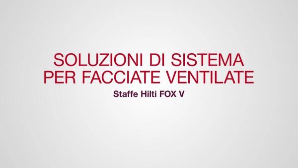 Staffe Hilti FOX V, soluzione di sistema per facciate ventilate