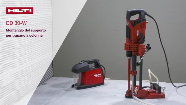 Video tutorial how-to: vi spieghiamo come sia facile attrezzare il telaio per carotatrice DD 30-W per applicazioni a telaio. CH-IT