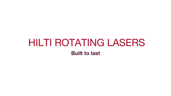 Testimonial comments from customers that use Hilti rotating lasers on exterior construction job site projects.