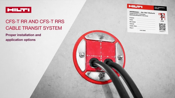 How to video of CFS-T RR and CFS-T RRS cable transit system, proper installation and application options!