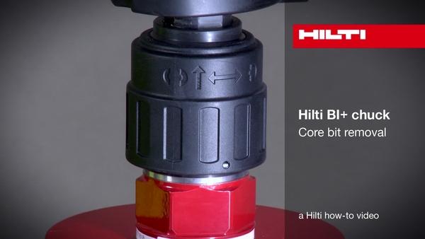 Mandril Hilti BI+ - Retirada de la broca corona