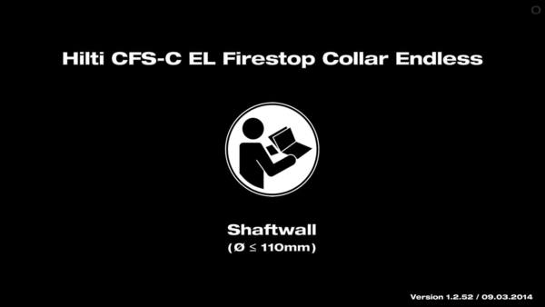 CFS-C EL Firestop Collar. Instruction for shaftwall.
