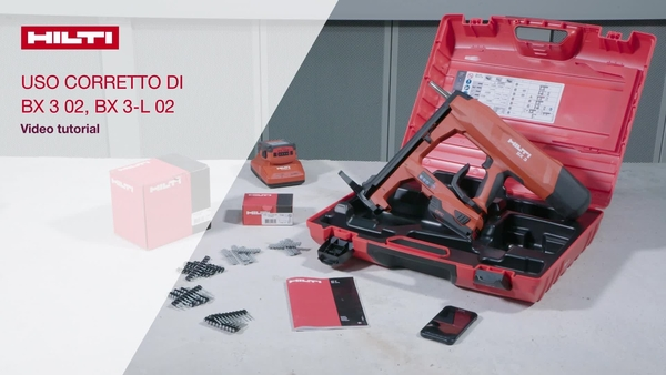 How-to instructional video: we explain how to use the Hilti BX 3 tool: refill nails, use security handle, the sleep modus and the Hilti connect app.