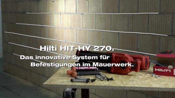 HIT-HY270 – Befestigung in Mauerwerk mit HDE Auspressgerät.