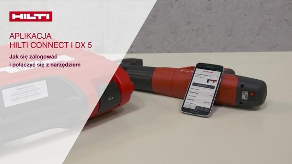 Jak zalogować się i nawiązać połączenie z osadzakiem DX 5