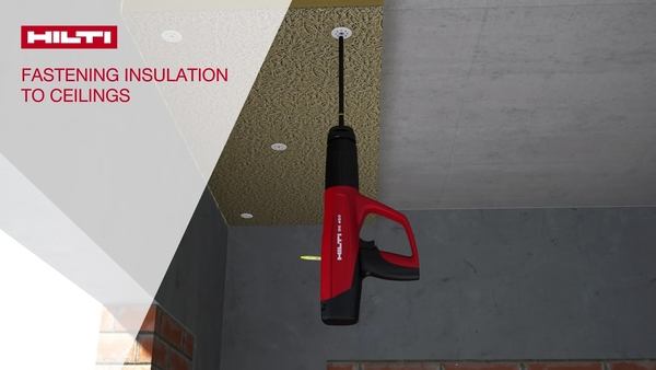 Installation of ceiling insulation boards with DX 460-IE (English)