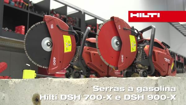 DSH 700-X e DSH 900-X serras a gasolina