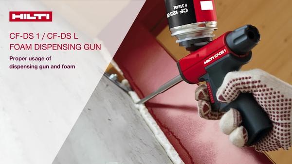 Leer hoe het Hilti CF-DS 1/L schuimdoseertoestel correct te gebruiken en onderhouden
