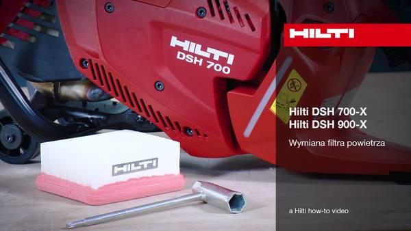 DSH 700-X / DSH 900-X – wymiana filtra powietrza.