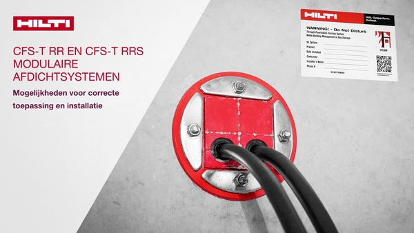 Instructievideo van CFS-T RR en CFS-T RRS kabeldoorvoersysteem, correcte installatie en toepassingsopties!