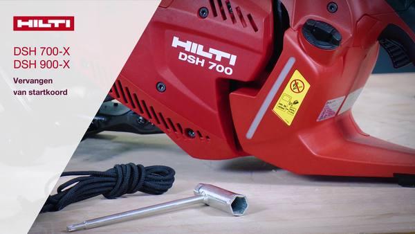 DSH 700-X, DSH 900-X - Wissel startkoord.