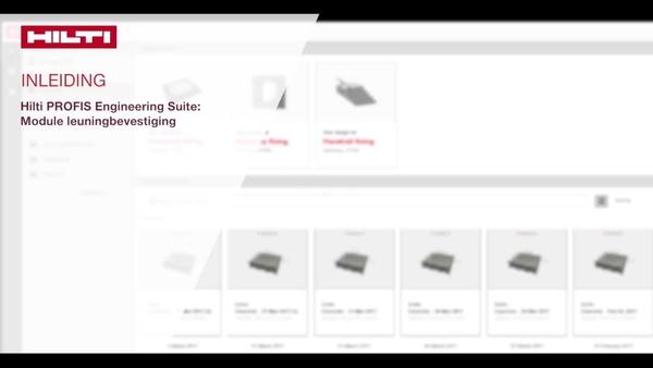 Instructievideo: leer over de stappen die betrokken zijn bij het ontwerp van leuningbevestigingen in beton. U selecteert waar de leuning wordt vastgemaakt en we tonen u hoe Hilti PROFIS Engineering de belastingen automatisch op uw regio toepast.