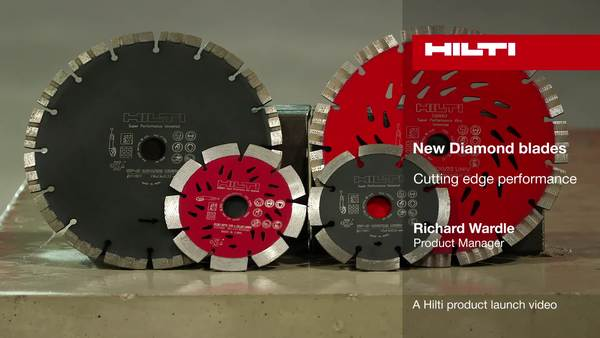 New Diamond blades - A Hilti product launch video.