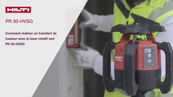 Tutoriel vidéo : comment transférer une hauteur avec un laser rotatif à faisceau vert PR 30-HVSG