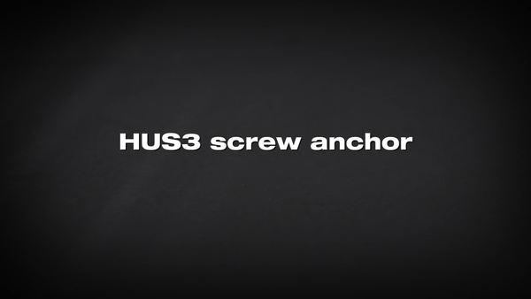 HUS3 screw anchor. The solution for contractors.