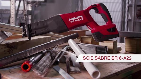 Vidéo produit de la scie alternative sans fil Hilti SR6-A22