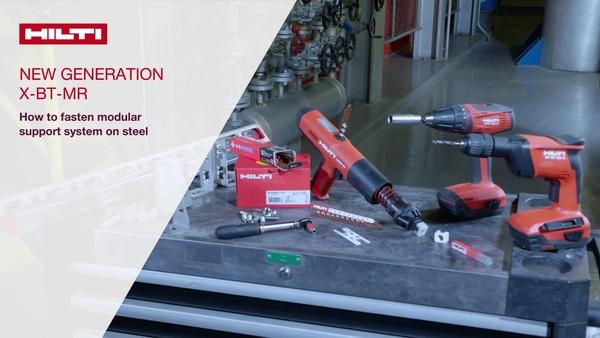 Mocowanie modułowego systemu podpór do stali przy użyciu kołków gwintowanych X-BT-MR nowej generacji