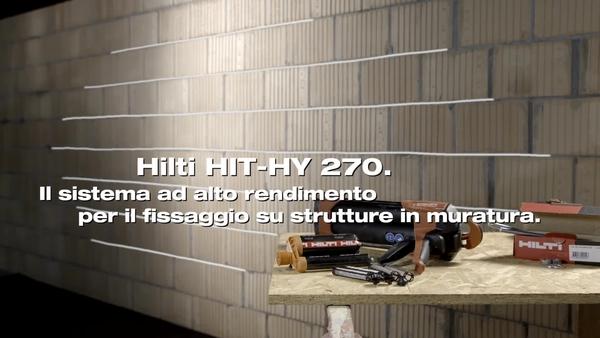 HIT-HY 270 - Fissaggio nella muratura con erogatore HDM.