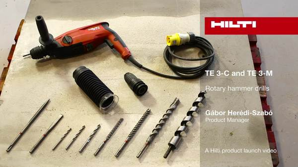 Hilti TE 3-C and TE-3M Rotary hammer drills - A Hilti product launch video