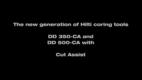 DD 350-CA – the coring machine with Cut Assist.