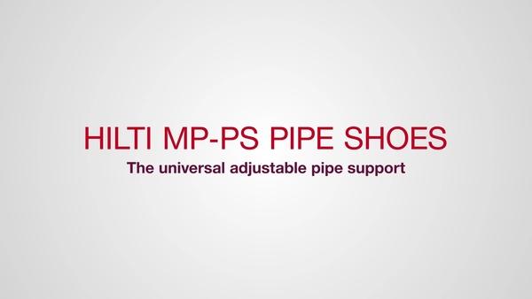 Hilti MP-PS leidingschoenen: de universele aanpasbare leidingsteun