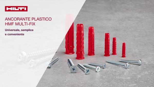 Come installare il tassello di plastica universale per tutti i materiali di base, finitura interna, per lavori leggeri, multi-fix