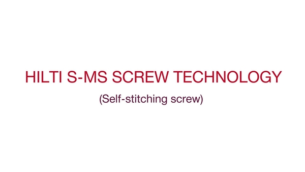 Hilti S-MS screw technology