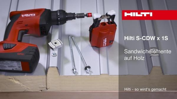 S-CDW x 1S – Sandwichpaneelschrauben für Holz.