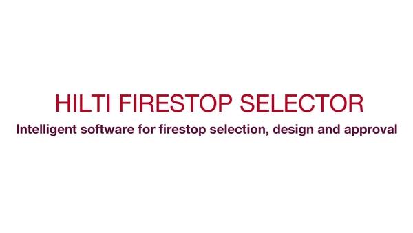 O Firestop Selector da Hilti é um software inteligente para seleção, design e aprovação de corta-fogo. A sua funcionalidade avançada torna fácil selecionar corretamente a solução aprovada.