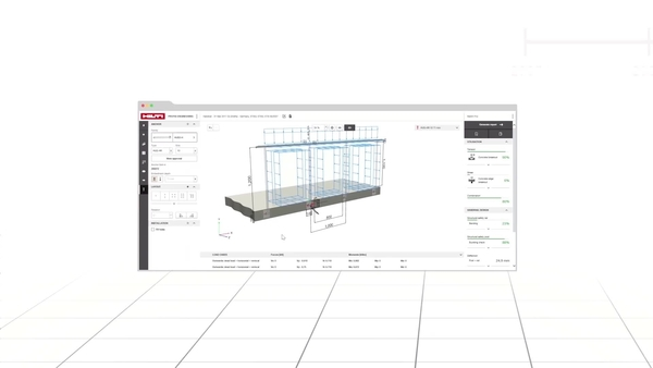 Learn how Hilti PROFIS Engineering Suite interfaces seamlessly with third-party structural calculation software like Dlubal. A favorites tab and an undo button allow for quick anchor calculations and maximise your productivity