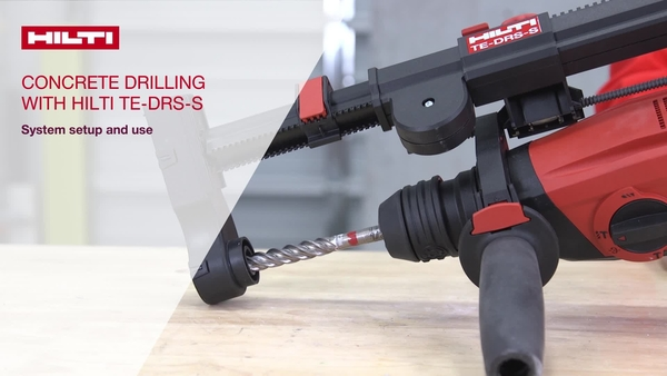 Instructional video on how to set up and use the Hilti DRS-S dust removal system on Hilti combihammers