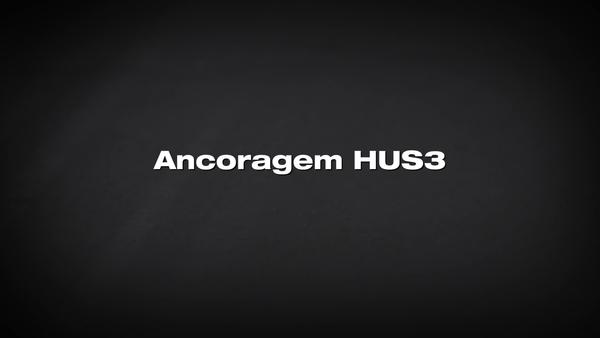 Ancoragem tipo parafuso HUS3 Ajustabilidade sem queda de carga.