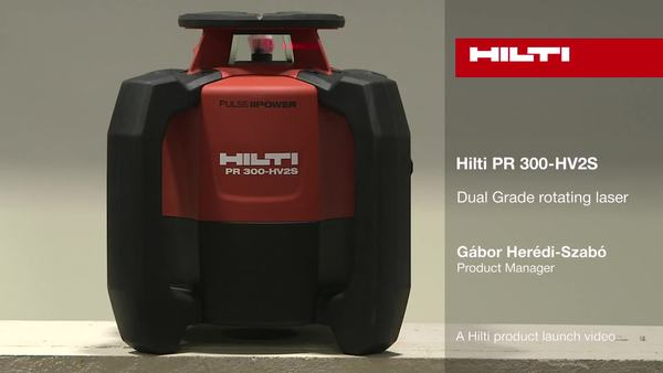 PR 300-HV2S Dual Grade rotating laser - A Hilti product launch video.