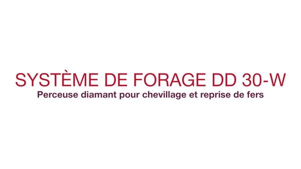 Vidéo promotionnelle : système de forage diamant unique pour les fers d'armature et les chevilles (E2 français)
