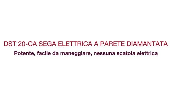 Video testimonianza / promozionale: i clienti testimoniano le prestazioni, il peso leggero e la facilità di utilizzo del tagliamuri. Non servono centraline elettriche e cavi.(CH-IT)