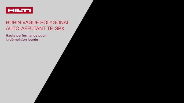 Introductie - Nieuwe Hilti TE-SPX-beitel, de hoogwaardigste beiteluitvoering van het Hilti-portfolio