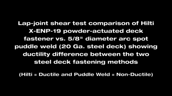 HNA DECK FASTENER VS WELD DOUBLE 2012 prv EN, commercial video, promotional video