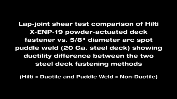 HNA DECK FASTENER VS WELD SINGLE 2012 prv EN, commercial video, promotional video