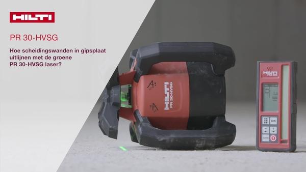 Instructievideo: hoe gipswanden uit te lijnen met een groene roterende laser PR 30-HVSG