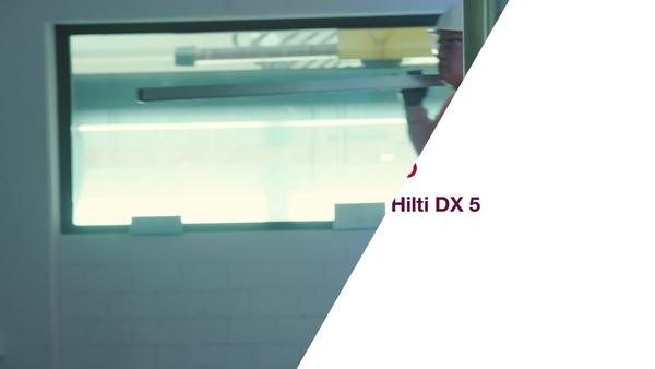 Wir stellen vor: das DX5 – das erste digitalfähige Bolzensetzgerät von Hilti.