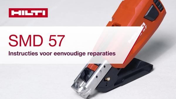 Ontdek hoe u standaardreparaties kunt uitvoeren voor het nieuwe SMD 57 schroefmagazijn met automatische doorloop van schroeven.