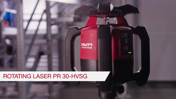 Product video of Hilti's rotating laser level PR 30-HVSG