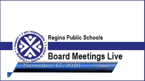 Thumbnail for entry November 17, 2020 Board Meeting