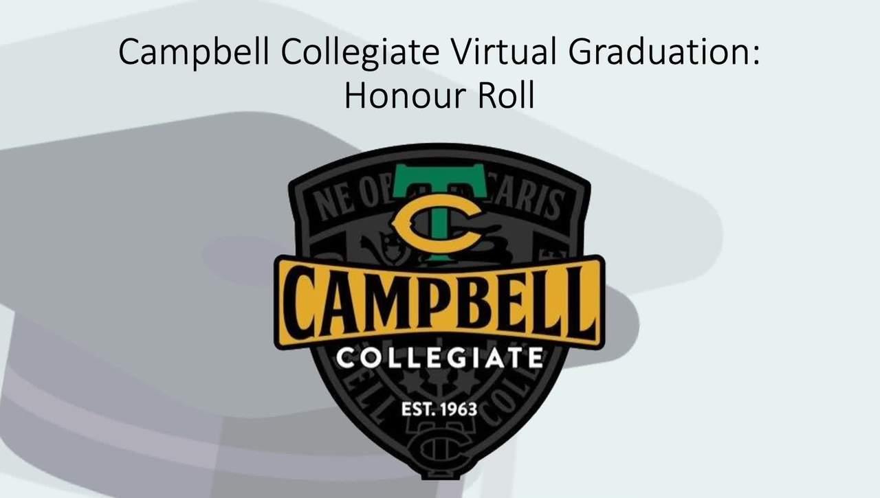Campbell Collegiate 2020 Honour Roll