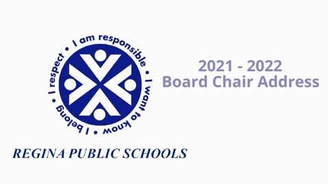 Thumbnail for entry Board Chair Opening Address 2021-22