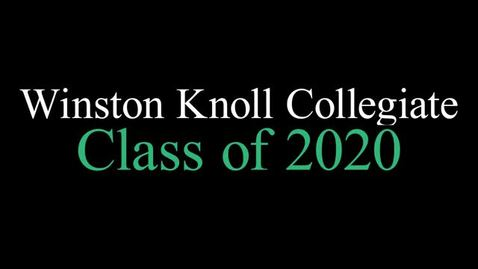Thumbnail for entry Winston Knoll Class of 2020