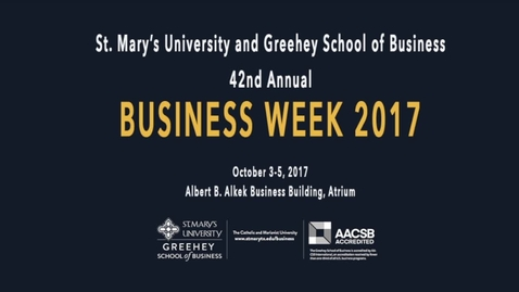 Thumbnail for entry BUSINESS WEEK 2017 / Lanham Napier, Oct. 5, 2017, 9:45 am