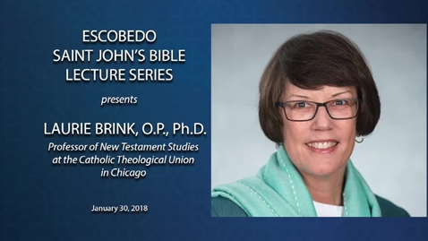 Thumbnail for entry The Escobedo Saint John's Bible Lecture Series --January 30, 2018