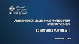 Thumbnail for entry Edwin Vince Matthews III-- November 7,  2018