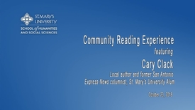 Thumbnail for entry Community Reading Experience - Cary Clack
